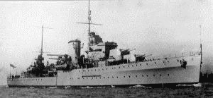 HMS Ajax, British cruiser during WWII